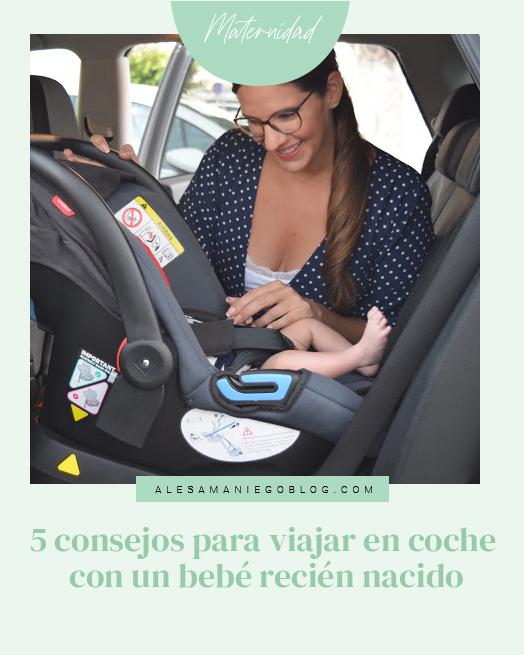 consejos viajar en coche recién nacido